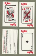 Collectible Advertising American playing cards. Rollem co.